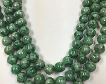 """16"""" Strand, Jade Round Beads, 8mm , 10mm"""