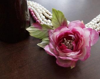 "Silk flower. Hair jewelry. Romantic flower. Silk rose ""Impromptu"""