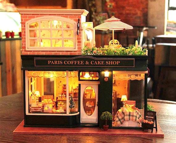 Paris Coffee Cake Shop Dollhouse Diy Kit Miniature