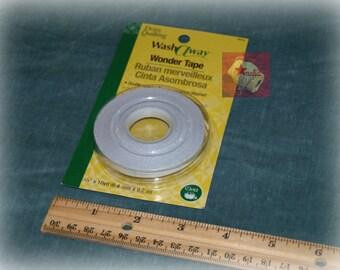 Dritz Quilting Washaway Wonder Tape 1/4 inch width x 10 yards NEW