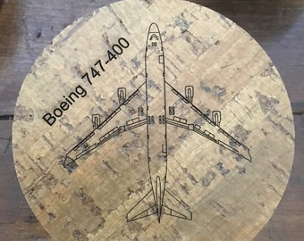 747-400 Drink Coaster