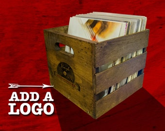 Stackable Vintage Record Crate