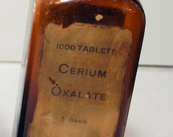 Antique Brown, Cerium Oxalate, Apothocary Bottle