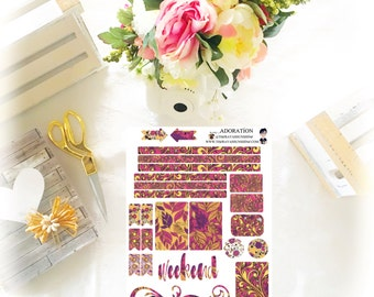 Adoration Planner Stickers by The Rayah Sunshine