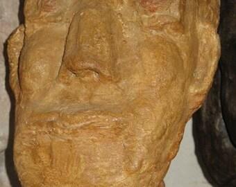 Man face sculpture