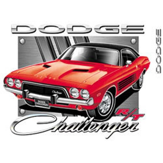 37f912ae ... Dodge Muscle Car Cartoons: Licensed Dodge Challenger Tee Shirt By  Mychristianshirts