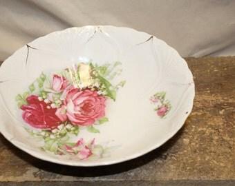 Vintage Floral Rose Bowl