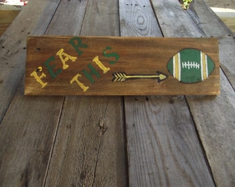Green Bay Packer reclaimed wood pallet sign