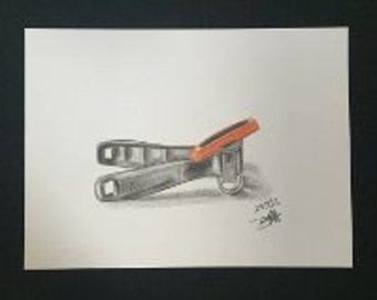 Drawing - Red Can Opener