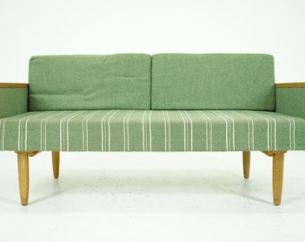 306-148 SALE! Danish Mid Century Modern Oak Sofa Couch Daybed