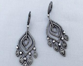 Chandelier earrings silver 925