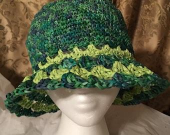 Dahlia Raffia hat