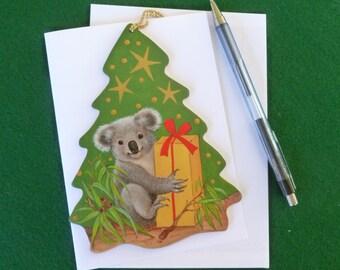 Koala in gift giving mood