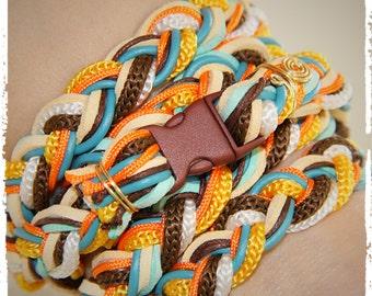 Wrap braided friendship bracelet - Charm bracelet, Braided bracelet, Rope bracelet, Handmade bracelet, Woman Bracelet, Christmas Gift