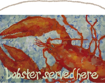 FREE SHIPPING!  LOBSTER Wood Sign