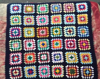 Vividly colourful Afgan wool Rug