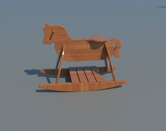 Build your own Child's Rocking Horse (DIY Plans) Fun to build!!