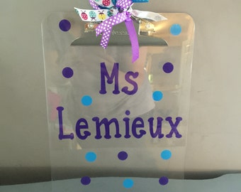 Personalized teacher gift clipboard