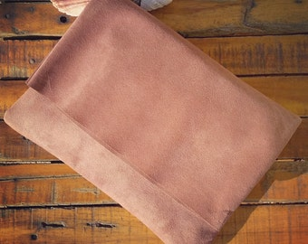 Suede clutch Suede bag Foldover clutch Envelope bag evening bag Suede purse
