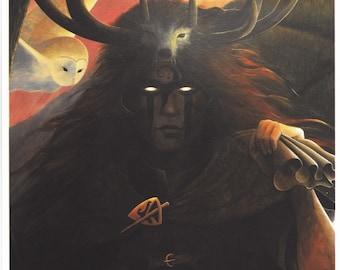 Gwyn ap Nudd, fine art print.