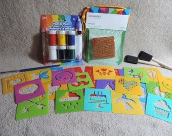 Shape stencil and paint kit