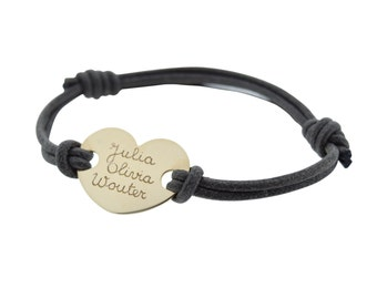 mamaloves personalised heart bracelet
