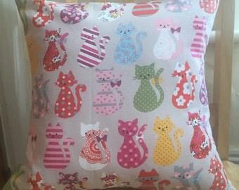 Cat decor - cat pillow case - cat pillow cover -  cat cushion cover - cat accessories - cat home decor - shabby chic accessories