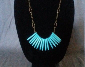 Spike Turquoise Necklace
