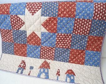 Patchwork quilt, baby quilt