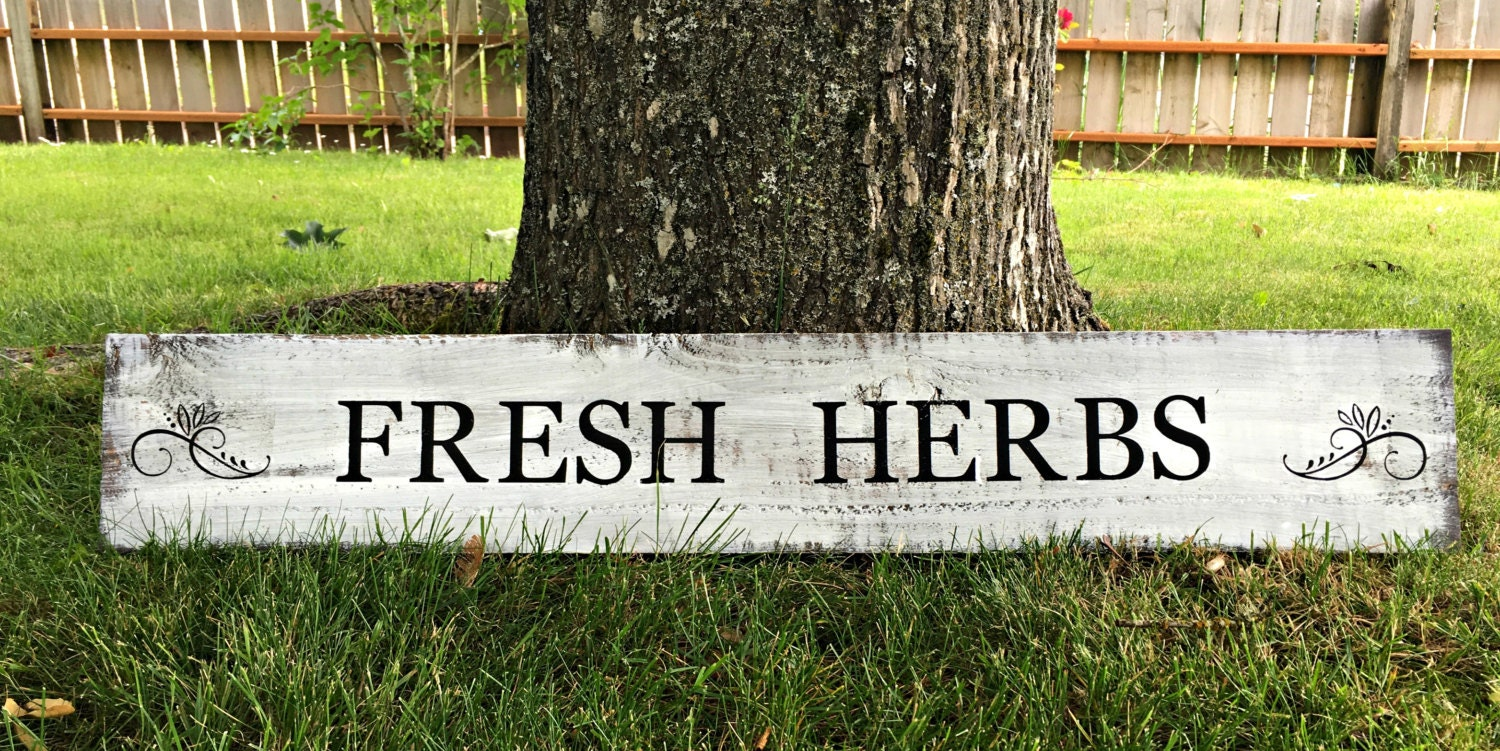 fresh herbs sign herb sign garden sign kitchen sign