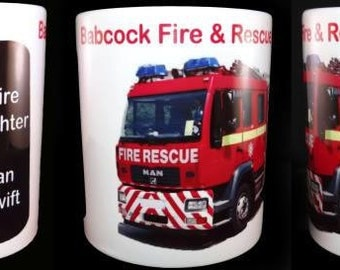 Fireman Firefighter Fire Service Personalised Mug