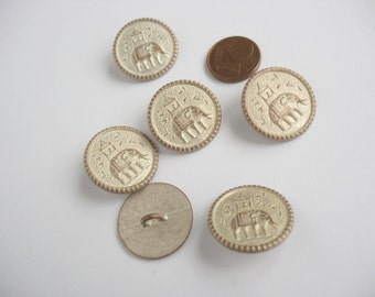 Metal Shank Buttons, metal buttons, Elephant button, Howdah Elephant button, Shank buttons
