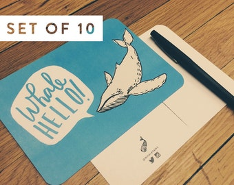Whale Hello Postcards Set of 10