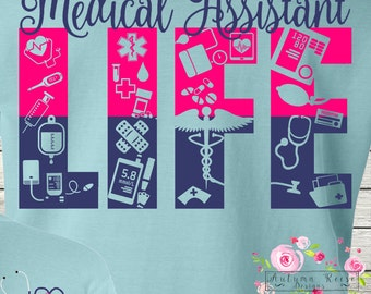 Monogrammed Medical Assistant Life Shirt T-Shirt MA