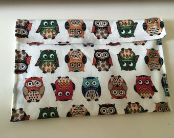 Owl Reusable Sandwich/ Snack bag