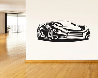 rvz075 Wall Vinyl Sticker Decals Sport Car Auto Automobile