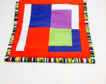 Bright and Graphic Hot Pad