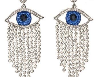 Evil Eye Chandelier Earrings
