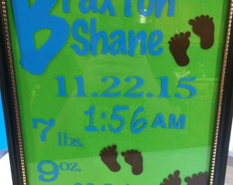 Birth Announcement Standing Frame