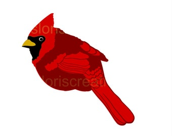 Cardinal SVG Cut file Bird  cut file