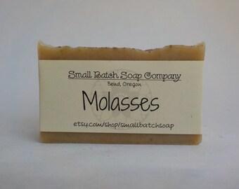 Molasses Soap, Molasses, Natural Soap, Vegan Soap, Unscented Soap, Body Soap, Palm Free Soap, Cold Process Soap, Mild Soap