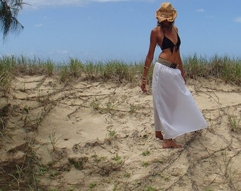 Barefoot Lace Maxi Skirt