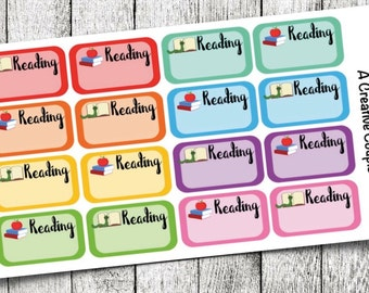 Reading Label Planner Stickers