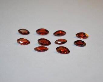 4 x 8 (0.71ct) Medium Red Orange Marquise Cut Spessartite Stone