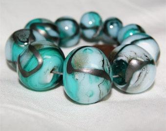Lampwork. handmade. Glass beads