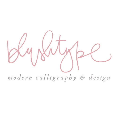 Blushtype modern calligraphy design by on etsy