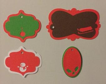 Handmade Christmas Tags - 4 pieces