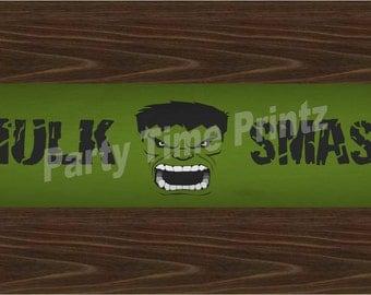 Hulk Bottle Label