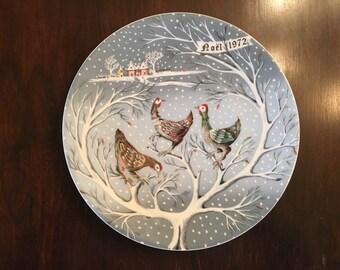 Lot of 4 Haviland Twelve Days of Christmas Plates