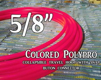 "5/8"" UV Hot Pink Polypro Hula Hoop"